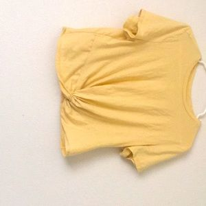 Light yellow shirt, a little coped,worn once